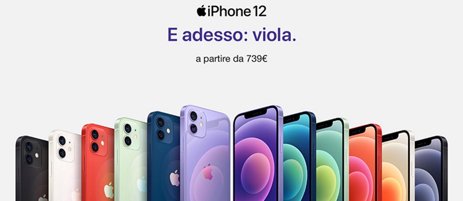Promozione Smartphone e telefonia: iPhone 12 viola