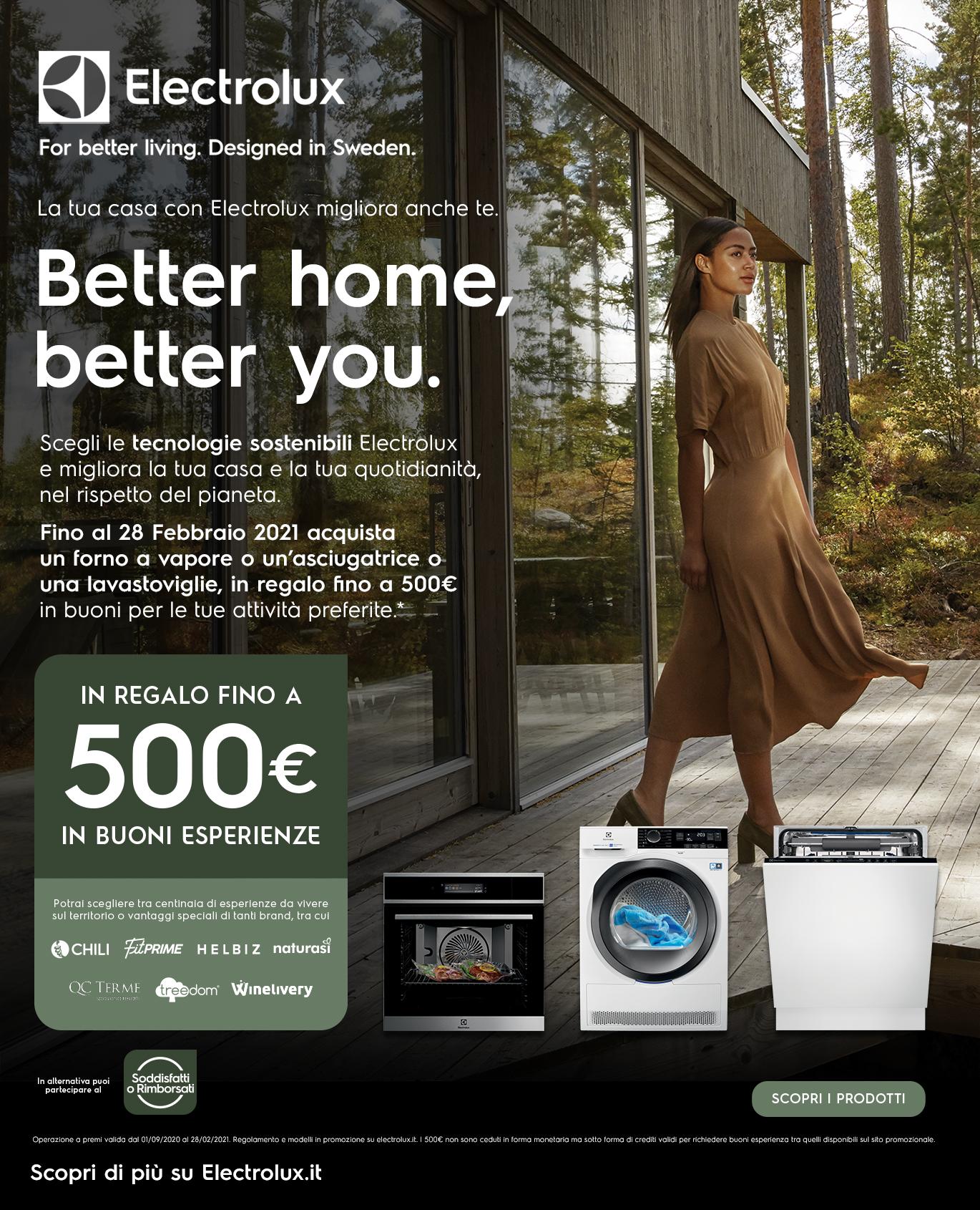 Promozione Grandi Elettrodomestici: Electrolux Better Home, Better You