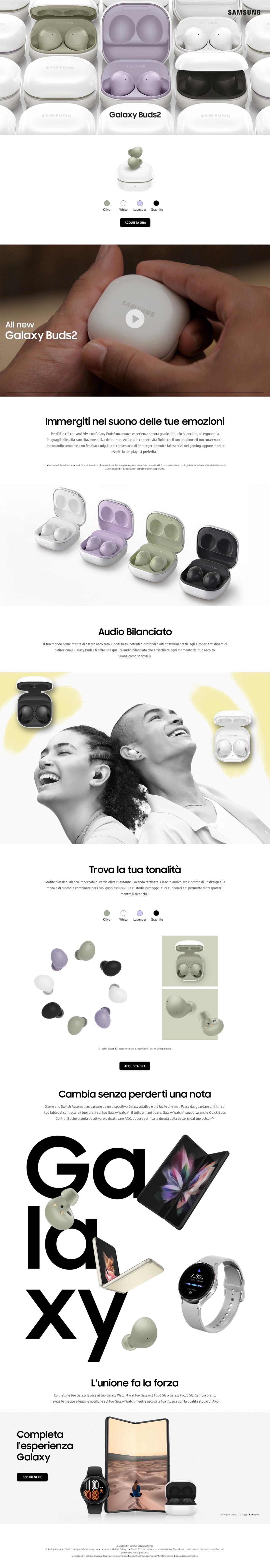 Promozione Smartphone e telefonia: Samsung Galaxy Buds2