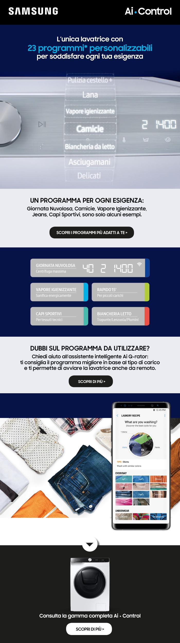 Promozione Grandi Elettrodomestici: Samsung AI Control