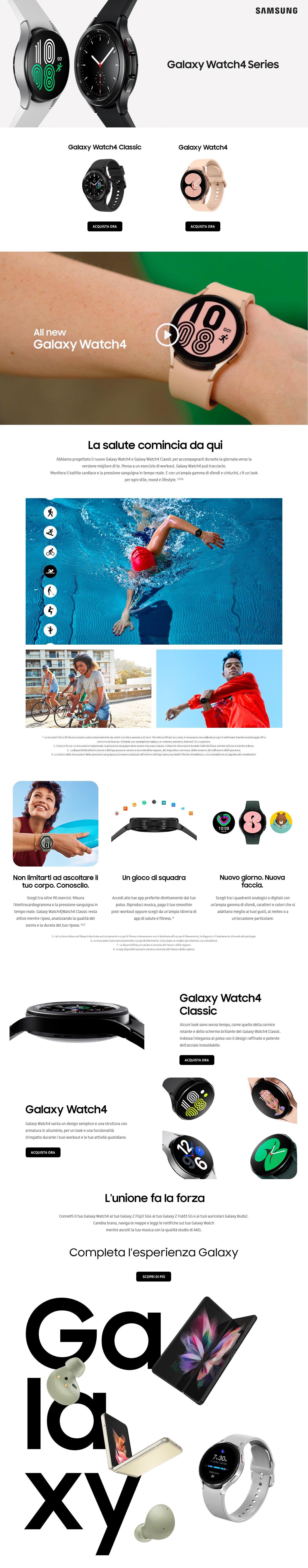 Promozione Smartphone e telefonia: Samsung Watch 4