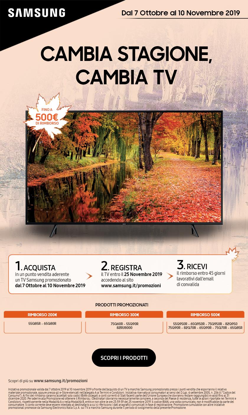 Promozione CAMBIA STAGIONE CAMBIA TV