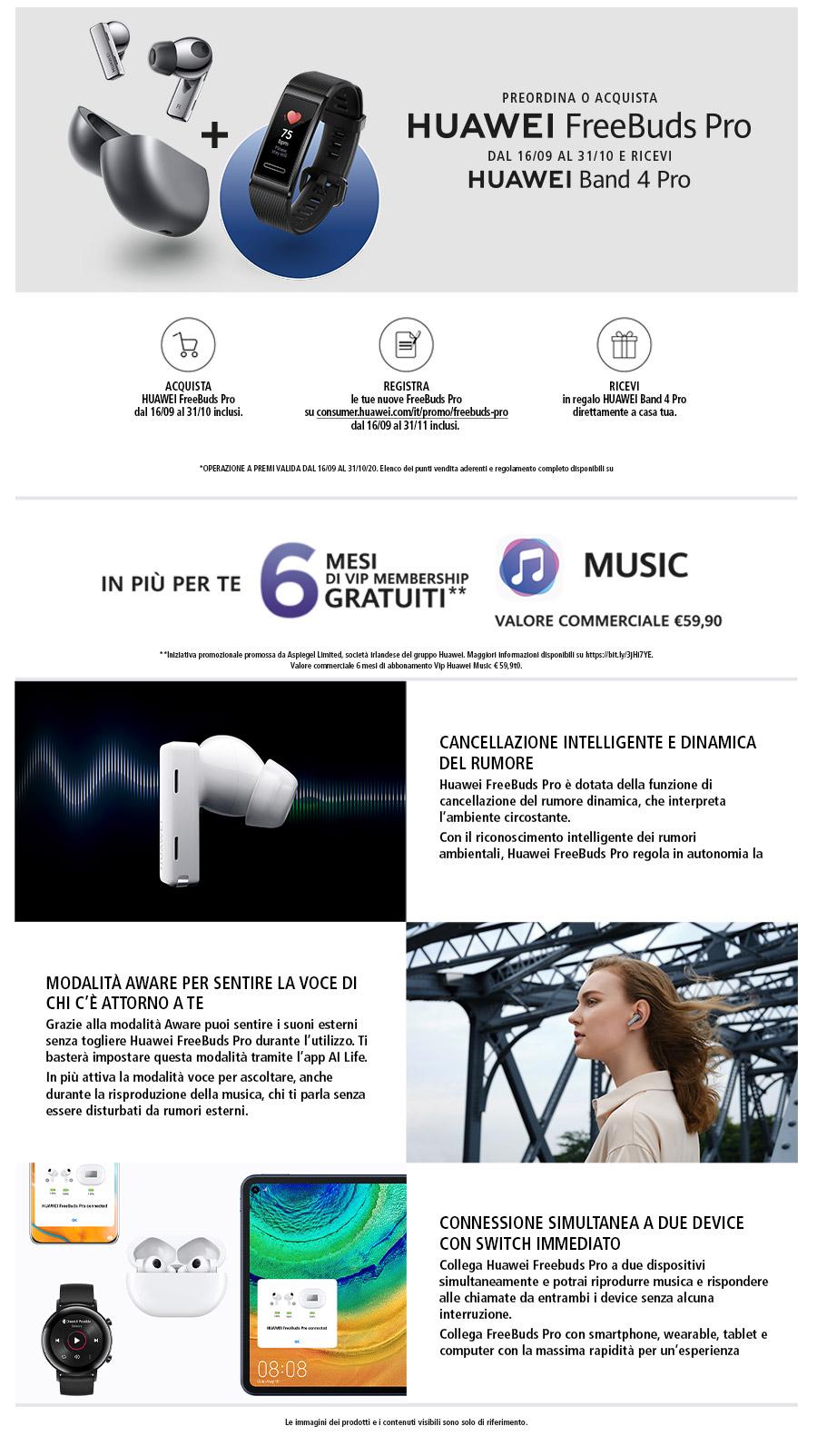 Promozione TV & Audio: Huawei Free Buds Pro Preorder