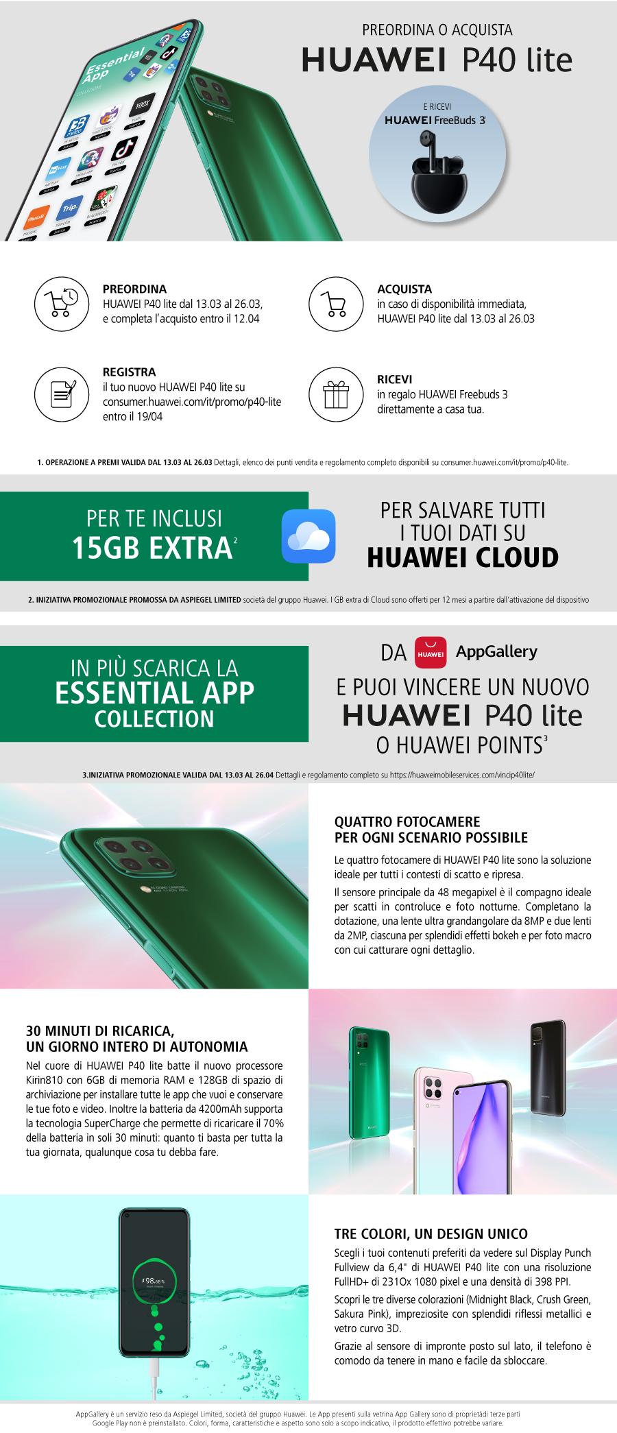 Promozione Huawei - P40 Lite
