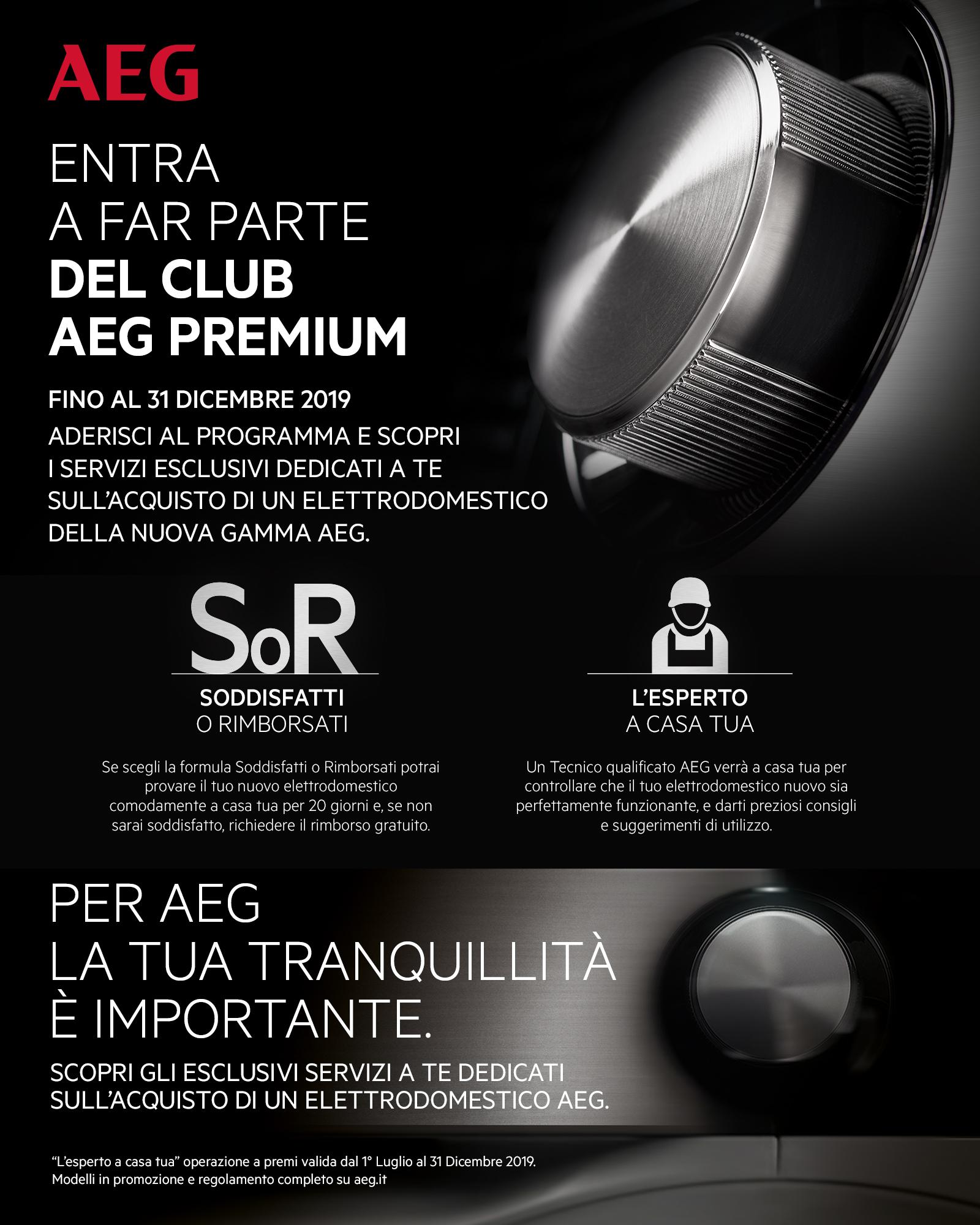 Promozione AEG Premium Club