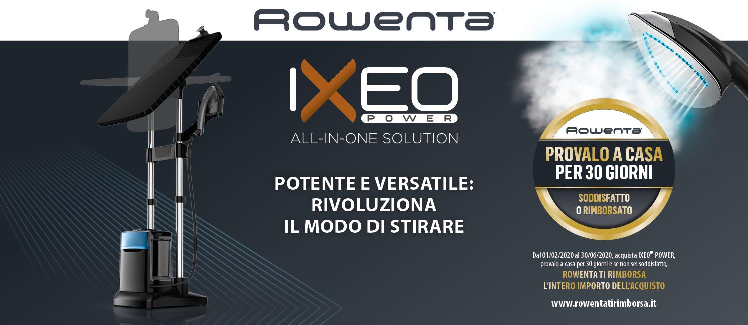 Promozione Ixeo Power Rowenta - Soddisfatto o Rimborsato