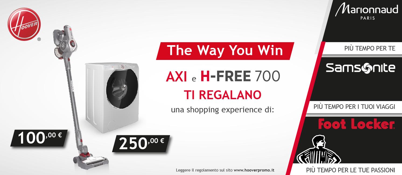 Promozione Axi e H-Free 700