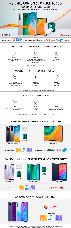 Promozione Smartphone e telefonia: Huawei Summer Campaign 2020